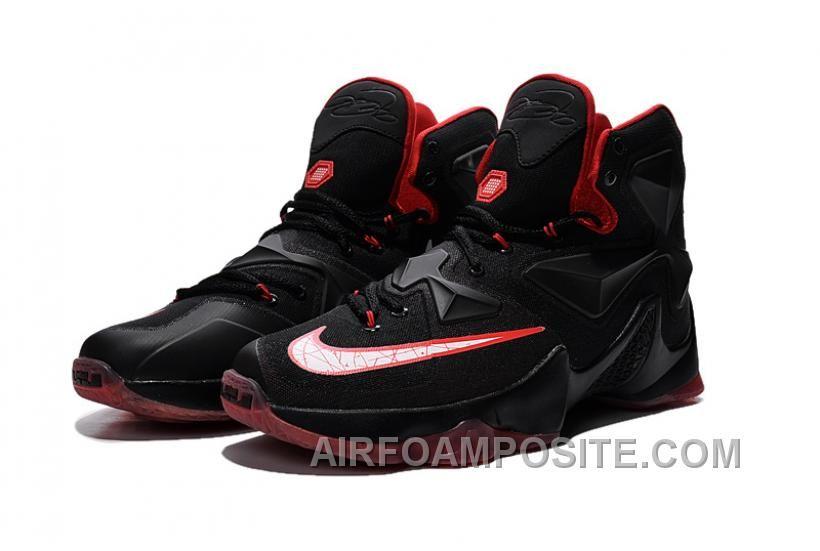 Nike Lebron 13 Women Custom Black Red CKDPx