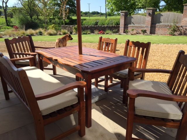 Attractive Patio Furniture Cushions. These Were Cut To Shape And Size For A Perfect  Fit.