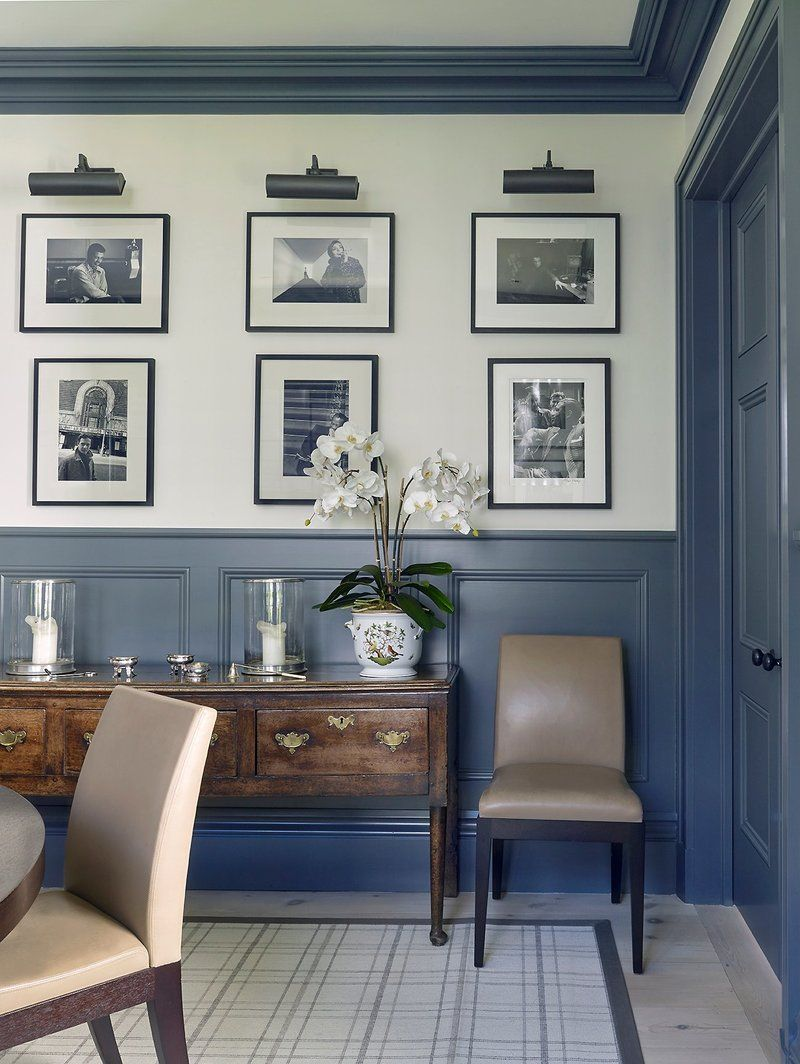 Transitional dining room in sag harbor ny by david kleinberg design associates