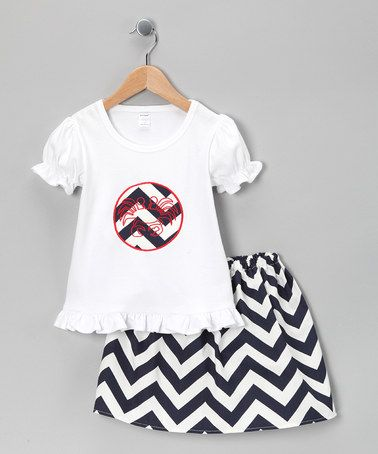 @Alison Paradise...these would be super cute for the summer to sell....Take a look at this Maryland-Designed White Top & Skirt - Infant, Toddler & Girls by Dapple Gray Designs on #zulily today!