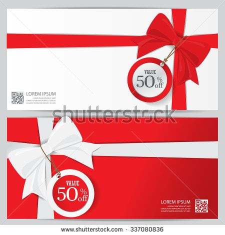 christmas holiday and new year gift voucher certificate coupon - business coupon template