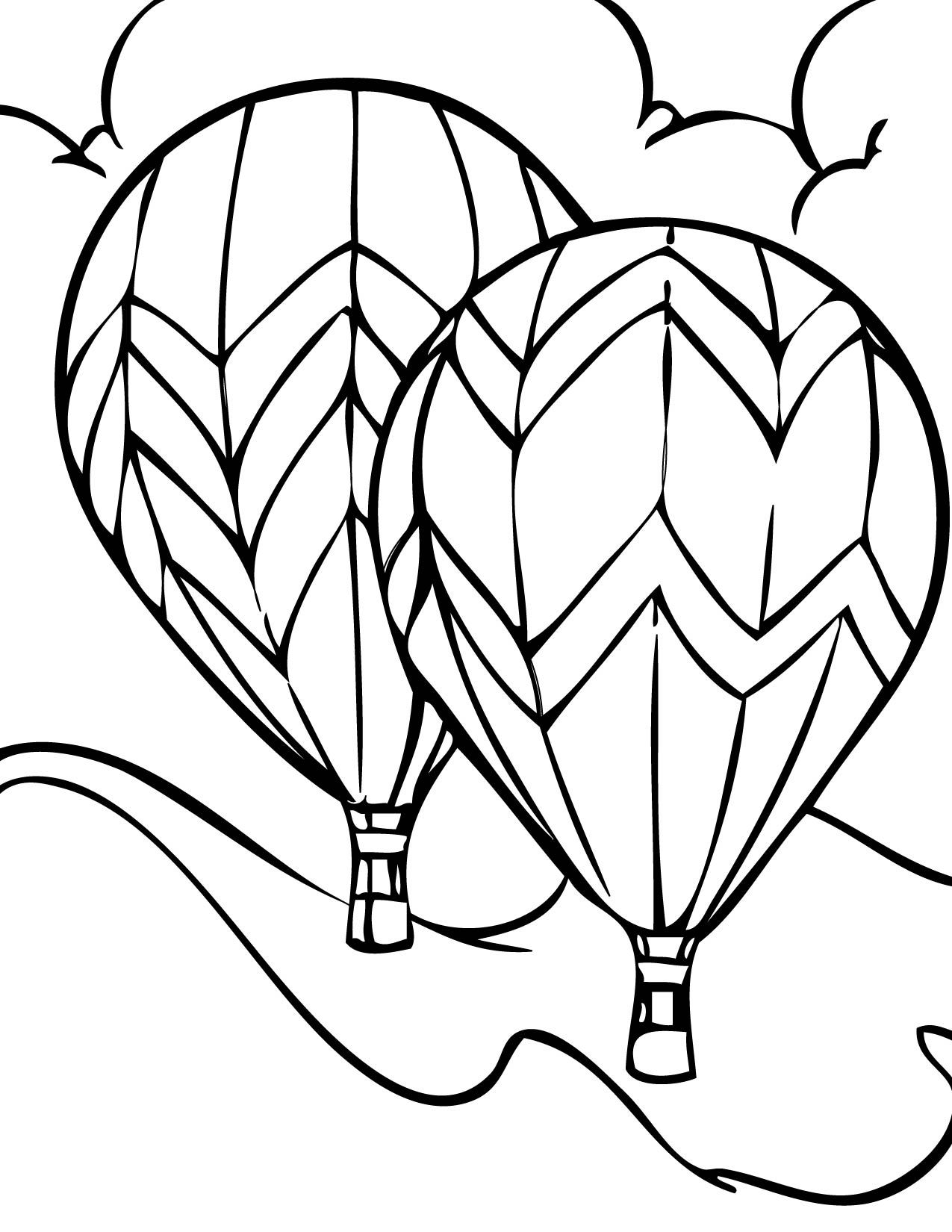 Free Printable Hot Air Balloon Coloring Pages For Kids | Hot air ...