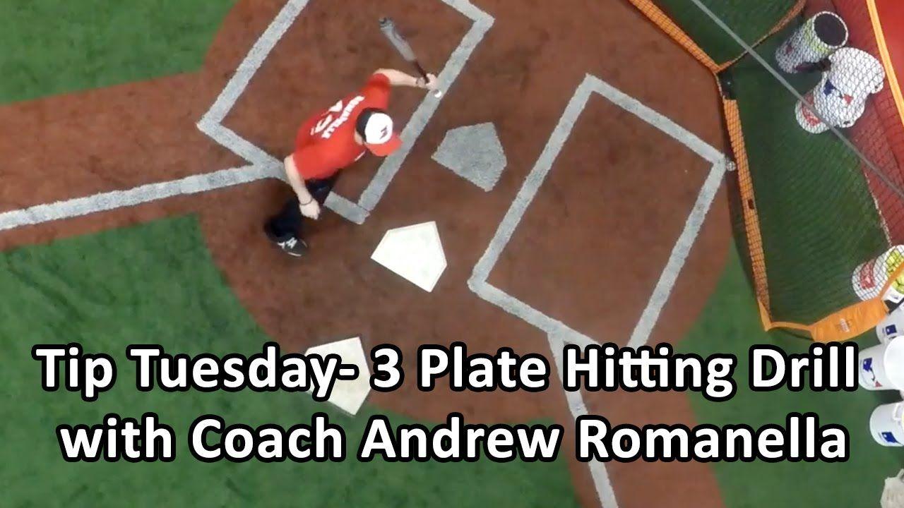 3 Plate Hitting Drill To Improve Timing And Bat Speed Baseball Hitting Drills Baseball Workouts Bat Speed