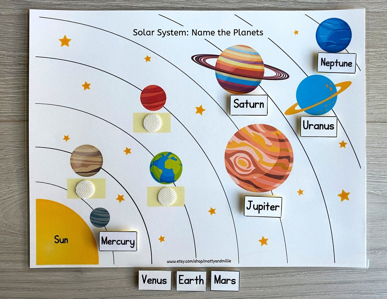 Solar System Worksheet Busy Book Pages Preschool Busy Book Etsy In 2021 Solar System Worksheets Solar System Solar System Projects