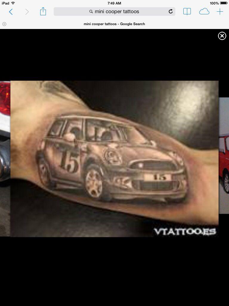 ecb6835b4 Bad ass mini tattoo | Mini Cooper tattoos | Mini tattoos, Tattoos ...