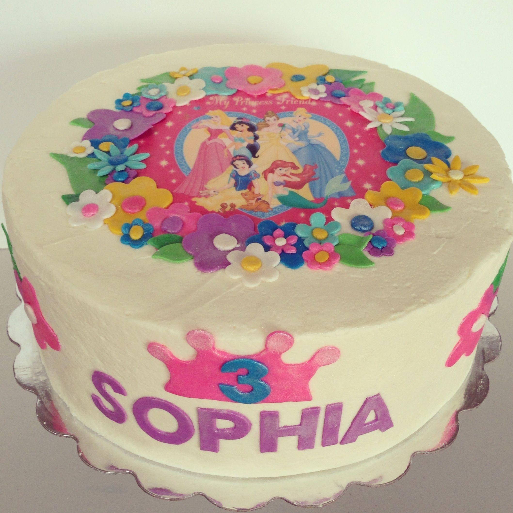 Amazing Disney Princess 3Rd Birthday Cake Gateau Funny Birthday Cards Online Alyptdamsfinfo