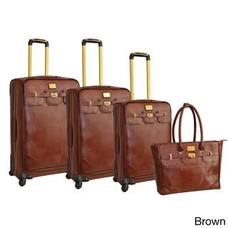 a66be1692 Adrienne Vittadini 4-piece Fashion Spinner Luggage Set | Overstock™ Shopping  - Great Deals on Adrienne Vittadini Four-piece Sets | Mode accessoires ...