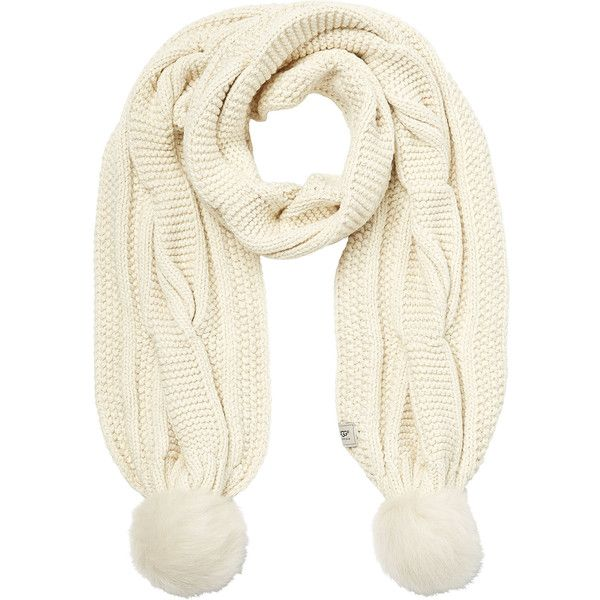 UGG Australia Wool Blend Scarf ($130) ❤ liked on Polyvore featuring accessories, scarves
