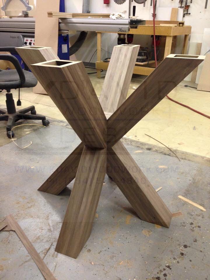 Walnut Wood X Base