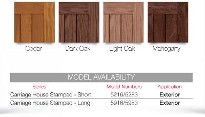 Chi accents wood tones for steel garage doors garage for Wood grain steel garage doors