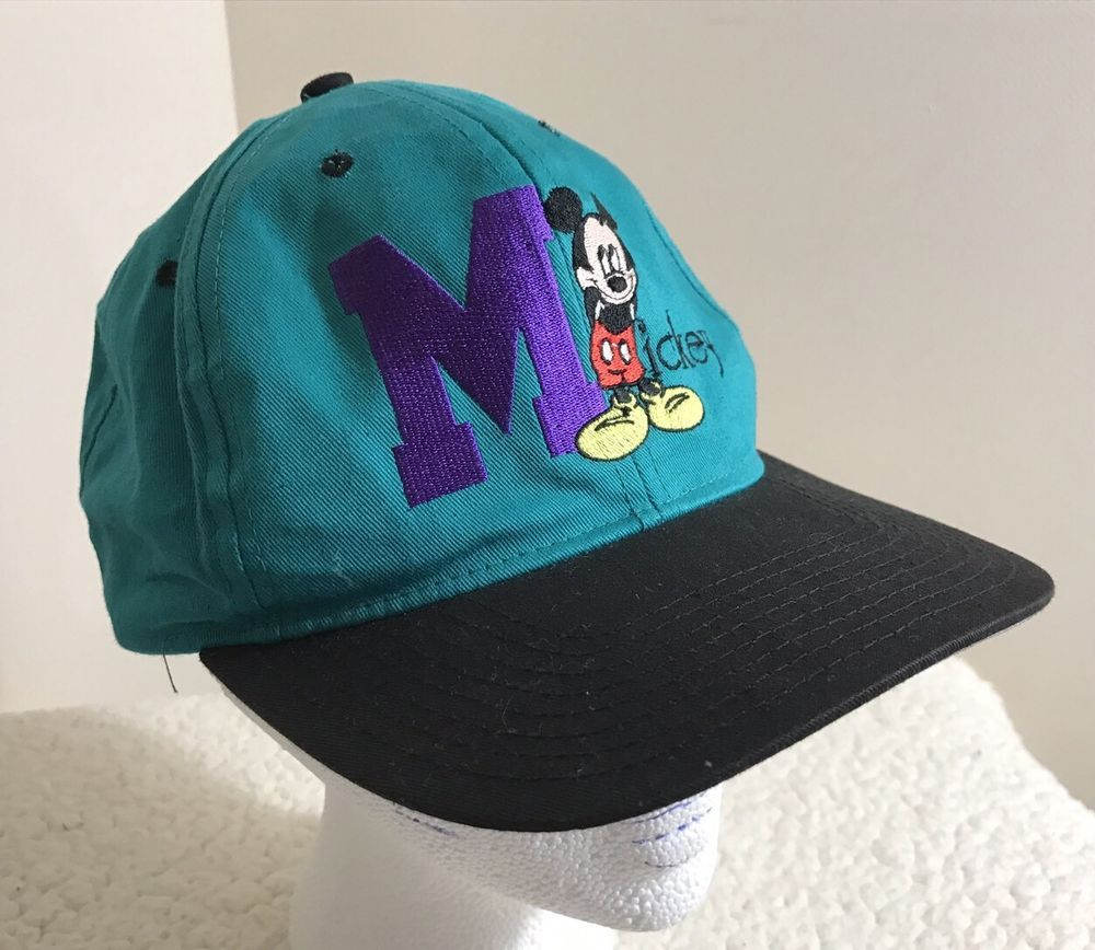 5250973d5f0fc Mickey Mouse Big M Hat Cap Adjustable Mickey Unlimited Brand One Size   DisneyUnlimited  BaseballCap