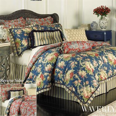 Sanctuary Rose Reversible Comforter Bedding By Waverly Comforter Sets Waverly Bedding Rose Bedding