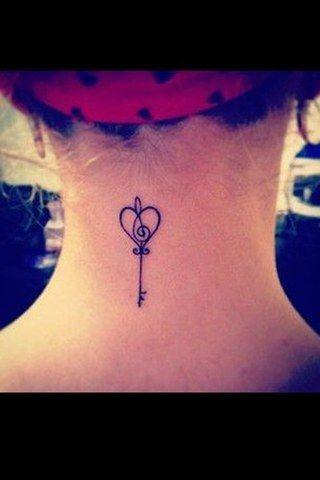 Wow - Schlüssel Tattoo ♡                                                                                                                                                                                 Mehr