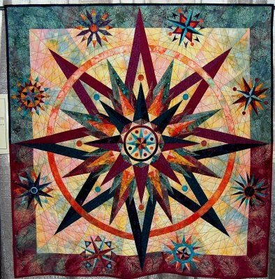 Mariner's Compassstar Quilt Lovely Interpretation Newly Made Enchanting Mariners Compass Quilt Pattern