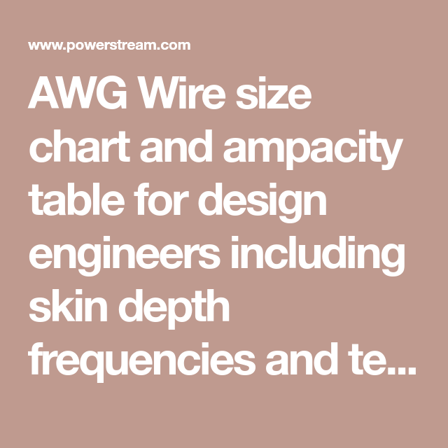 Awg wire size chart and ampacity table for design engineers awg wire size chart and ampacity table for design engineers including skin depth frequencies and tensile keyboard keysfo Gallery