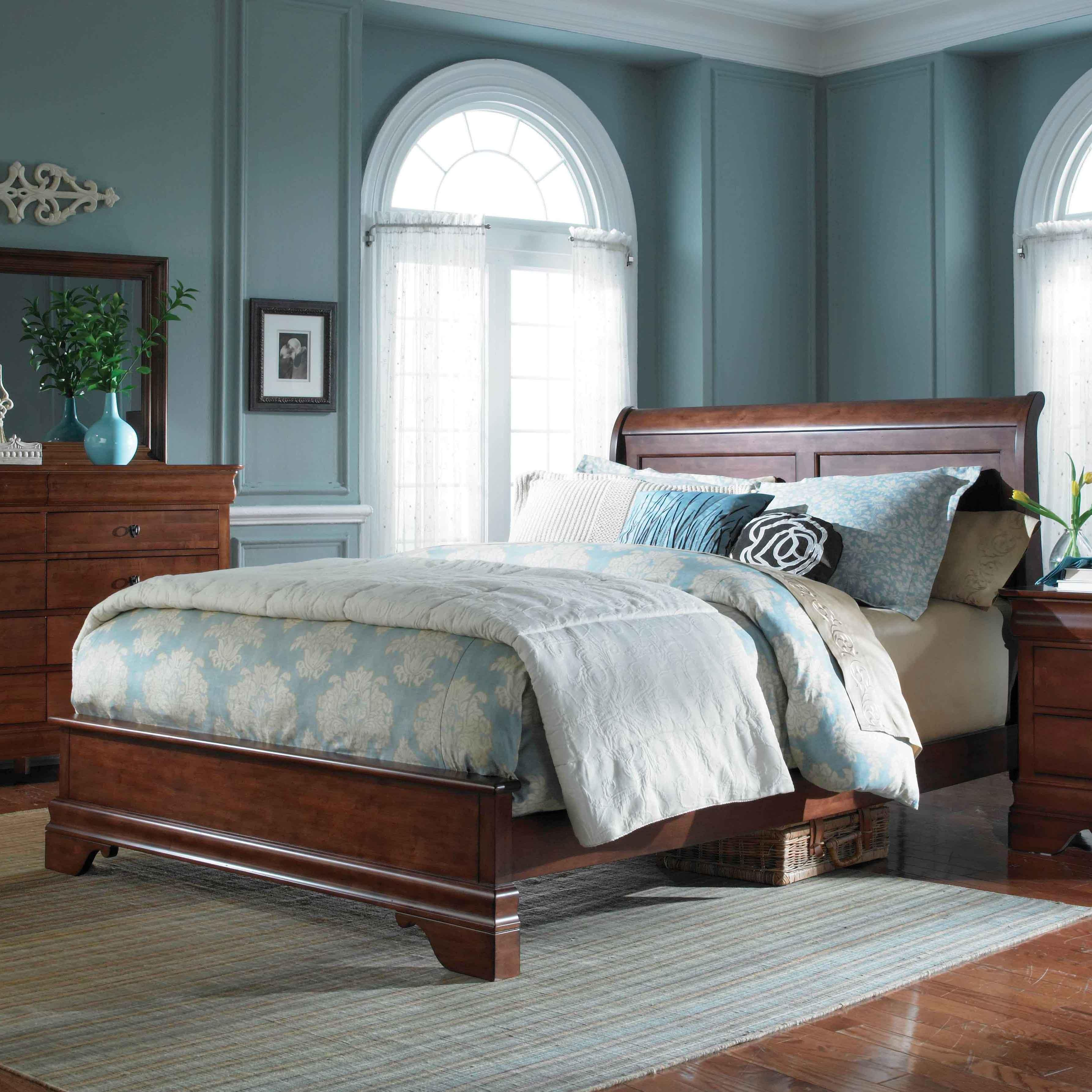 Chateau Royale King Low Profile Sleigh Bed by Kincaid Furniture