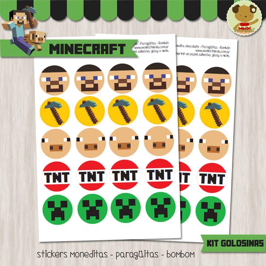 Minecraft - Kit Candy Bar (Golosinas) | Fiestas de niños, Golosinas ...