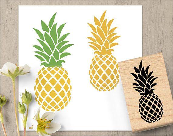 Sello de piña piña Favor regalo piña frutas Hawai sello