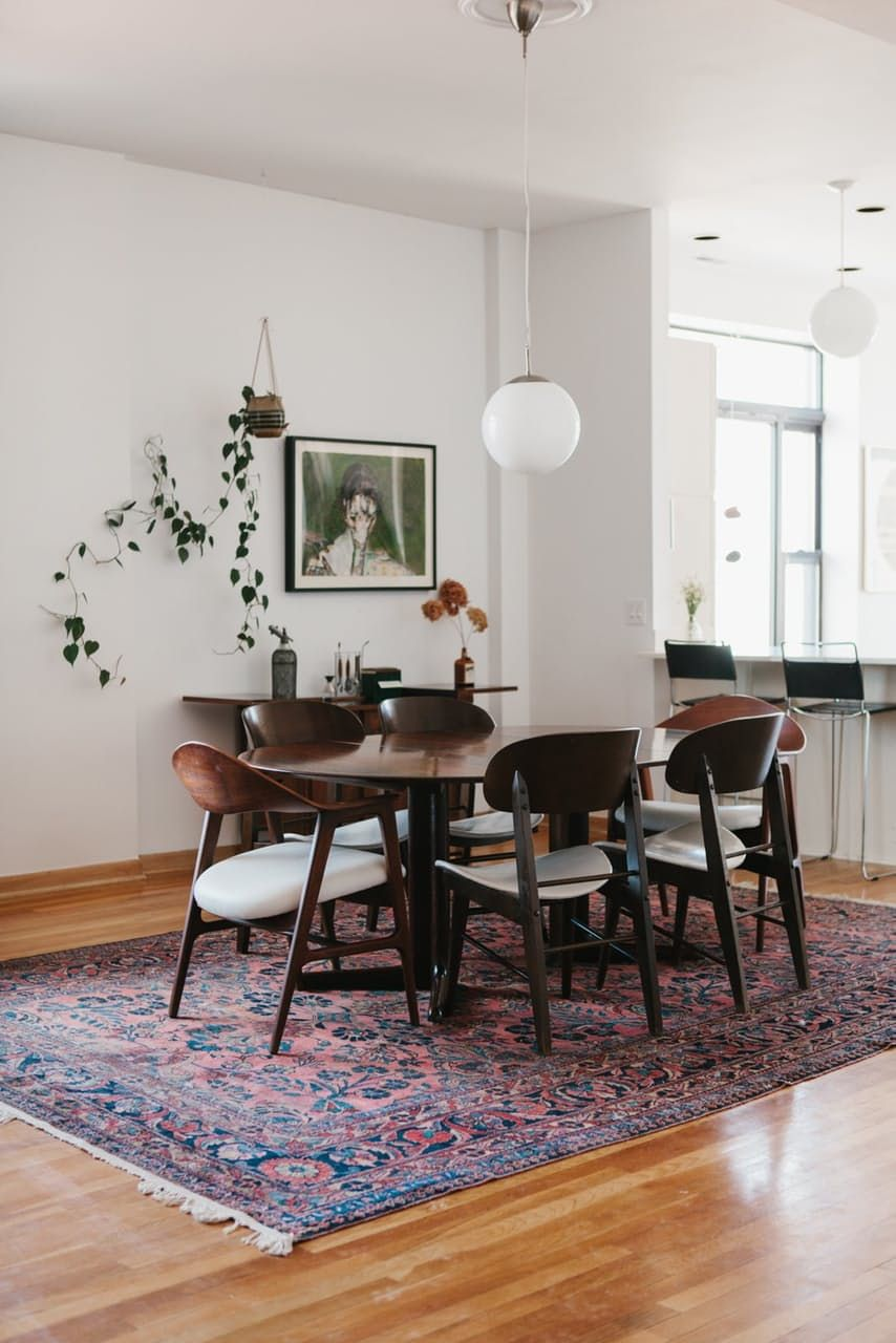 cool dining room table.  Cool Minimal Dining Room Design  Minimal Home Persian Rug White  Walls Indoor Plants Diningroom Minimaldesign For Cool Dining Room Table
