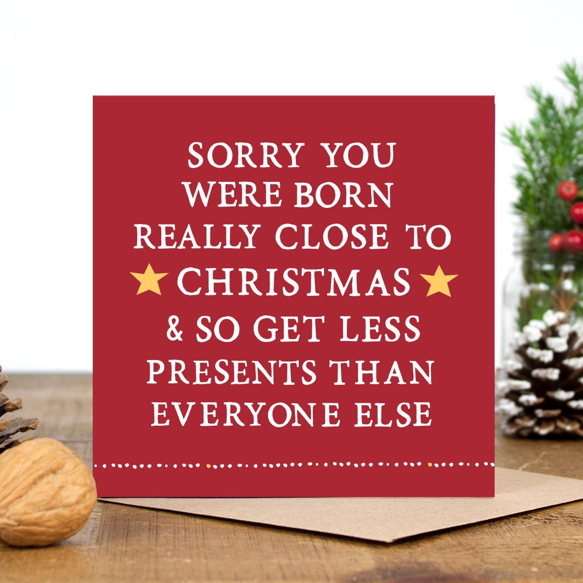 Funny birthday card funny christmas card alternative christmas funny christmas card funny birthday card by zoebrennancards kristyandbryce Image collections