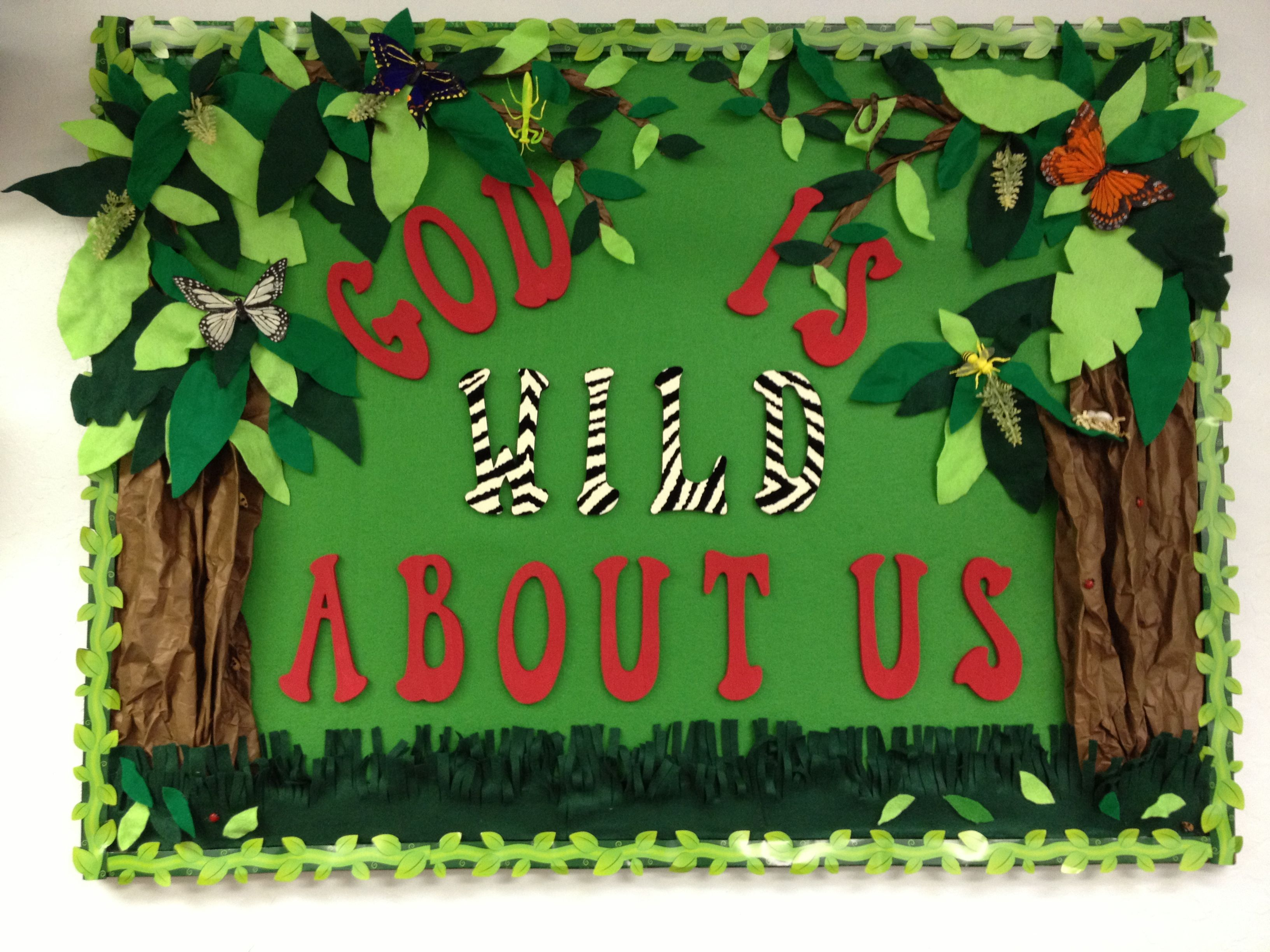Jungle Theme Decorating Ideas Part - 47: Jungle Theme Bulletin Board