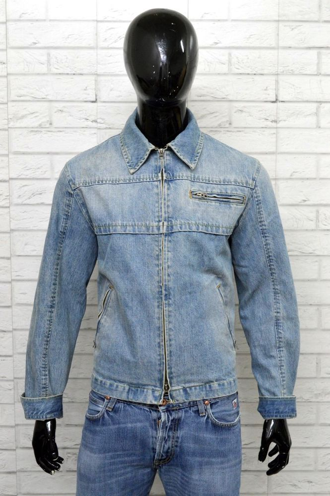 Jeans Jacket In Giubbino 50 Man Taglia Giacca Armani Uomo BpwHq