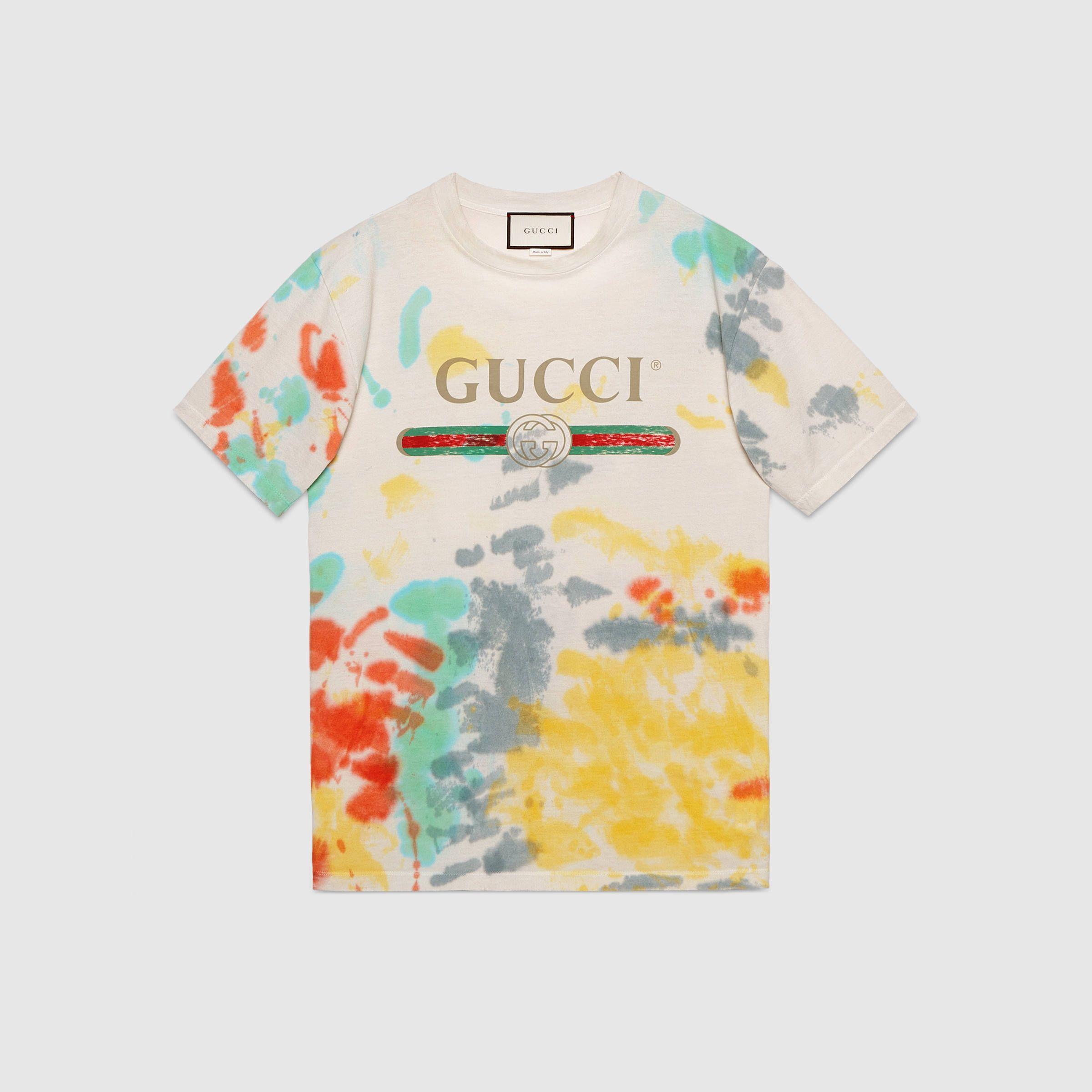 f5bf5fcae2 Gucci logo cotton t-shirt | Wear in 2019 | Shirts, White cotton t ...