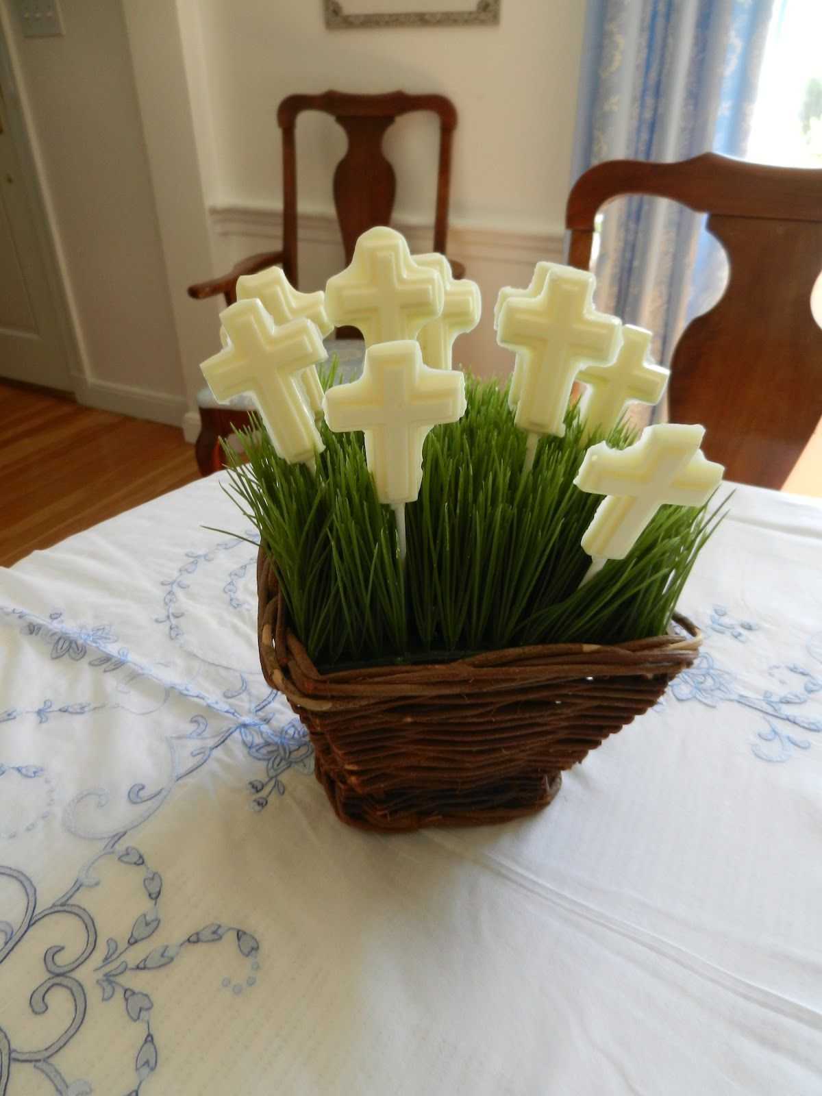 First communion centerpiece ideas the lily pad my first for 1st communion decoration ideas