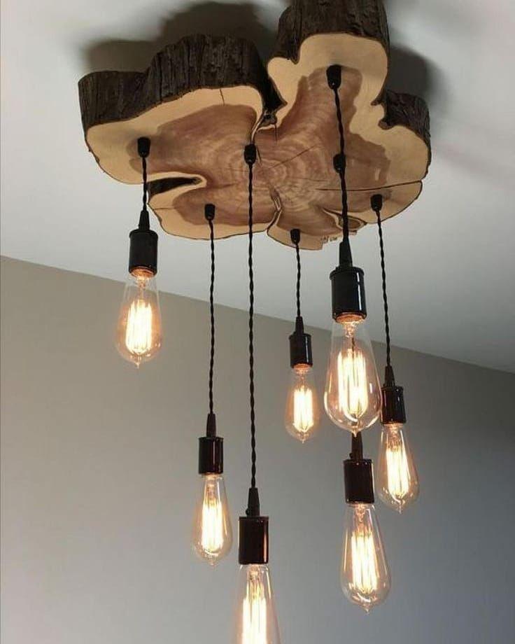 Idées lampadaire avec bois flotte