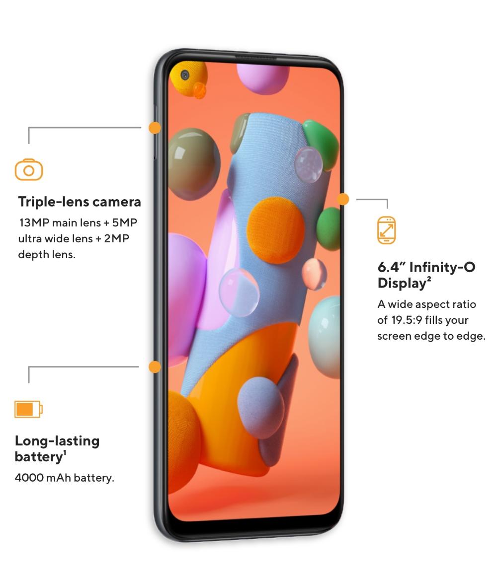 Samsung Galaxy A11 Black 32gb Price Specs Reviews Metro By T Mobile Samsung Galaxy Samsung Galaxy