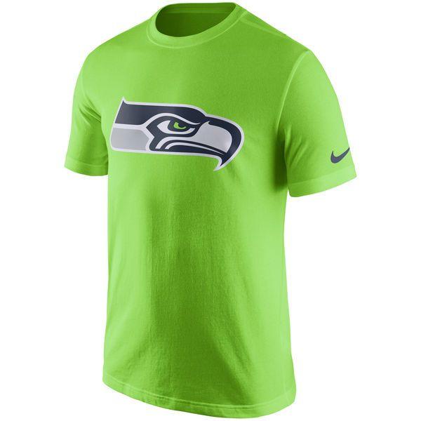 a5fc49942c Seattle Seahawks Nike Essential Logo T-Shirt - Neon Green -  27.99