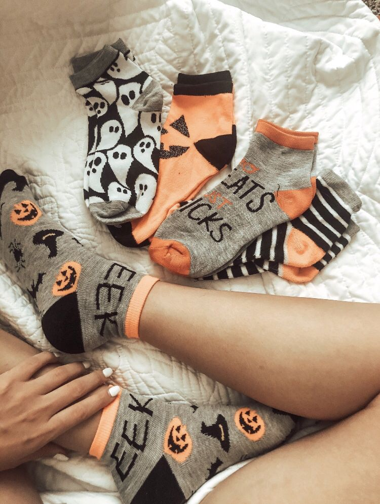 add in cute halloween socks to include people into shots. #halloweenaesthetic