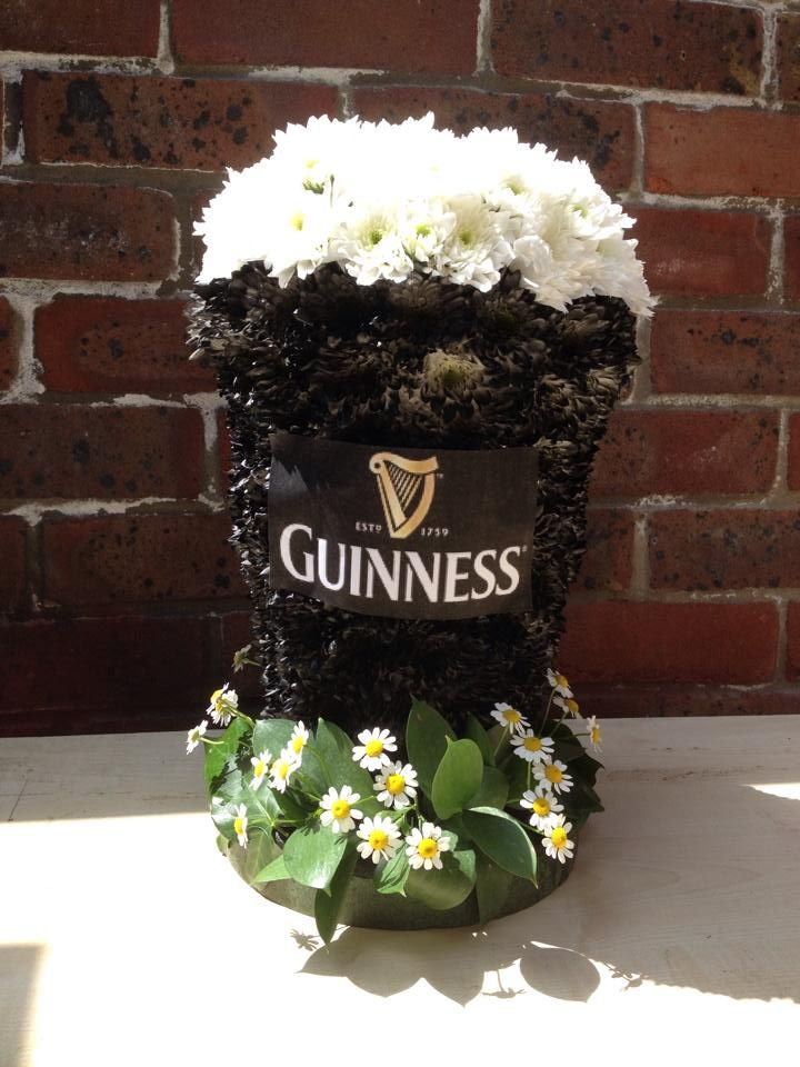 Guinness centre piece perfect for an irish themed wedding