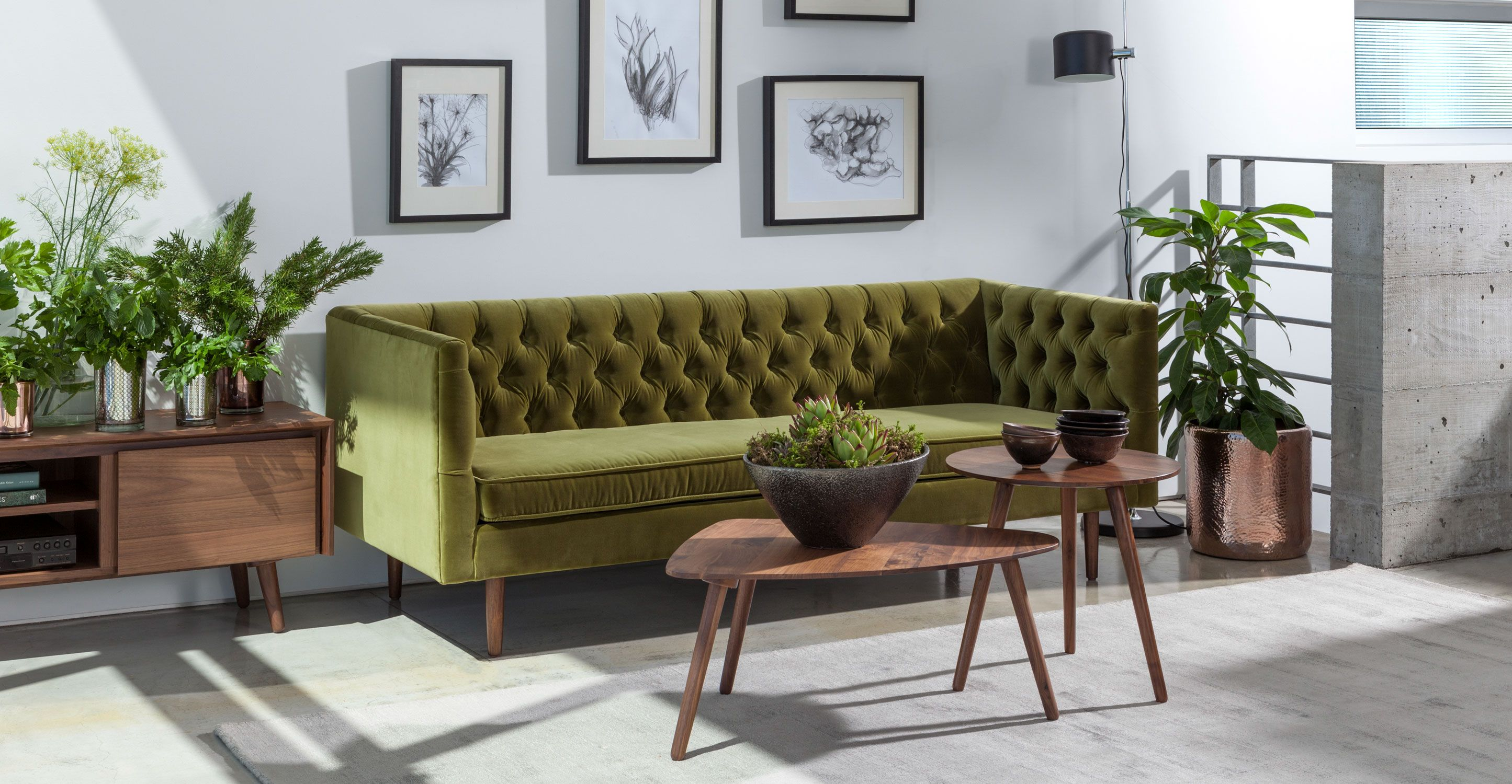 Chester Olive Green Sofa Sofas Article Modern Mid Century