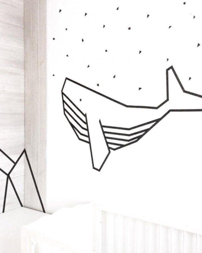 Masking tape: 12 idées pour décorer un mur blanc #maskingtapeart