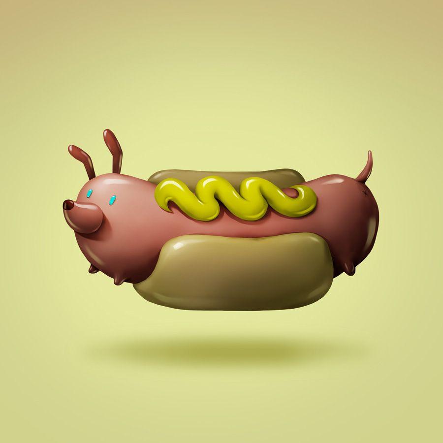 Art Snacks - a new juicy set for NeonMob on Behance