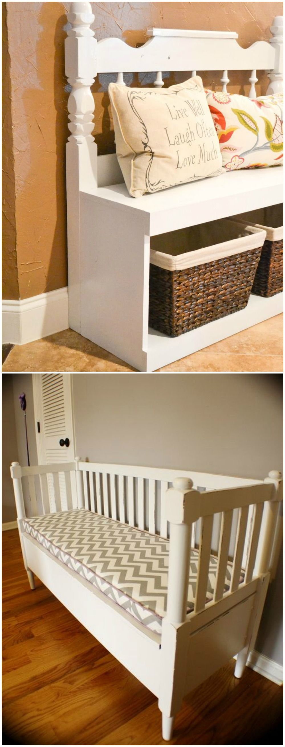Reciclar Una Cuna Visto En Www Ecodecomobiliario Com Kids Room  # Muebles El Gitano