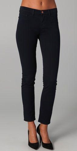 Navy twill skinny jeans