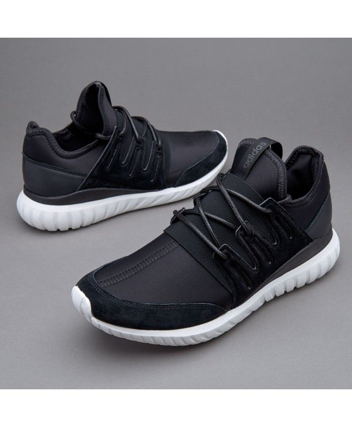 Adidas Sale Originals Tubular Radial Core Black Crystal White Trainers 5f21d2741