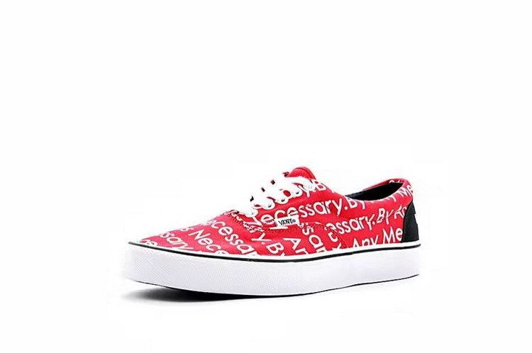 d503356d478ae4 Vans Supreme TNF Motion Logo Era Classic Red True White Womens Shoes  Vans