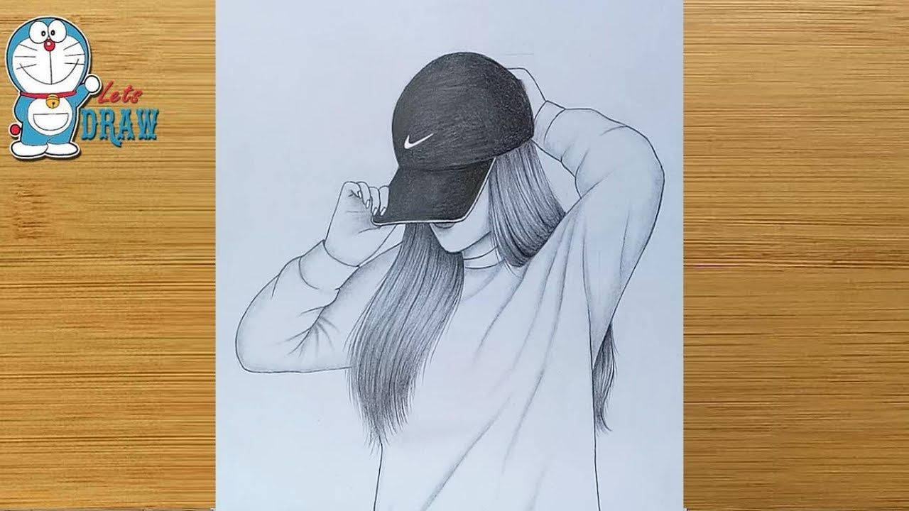 Hidden Face Drawing How To Draw A Girl With Cap Pencil Sketch Bir K In 2020 Girl Drawing Sketches Art Drawings Sketches Simple Art Drawings Sketches Creative