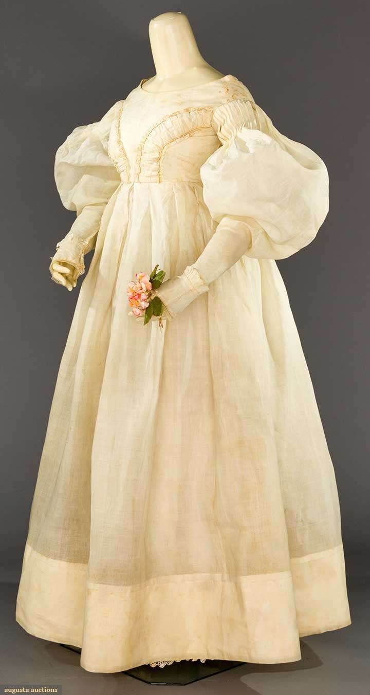 Late1830s Organdy Summer Gown: 1820s Wedding Dress Box At Websimilar.org