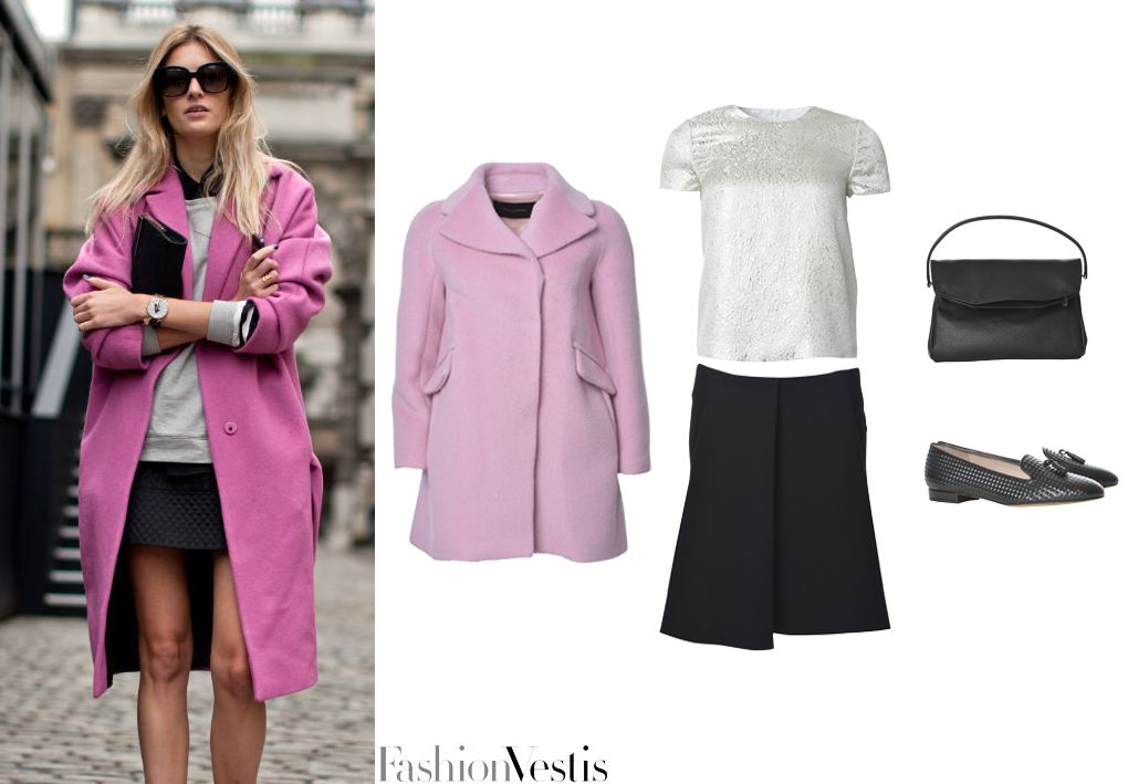 Camille Charriere im Celebrity-Look im rosa Mantel