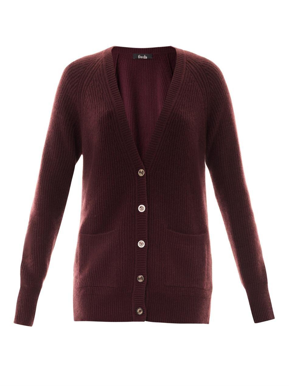 FREDA Hazel cashmere cardigan - Burgundy is the season s newest ...