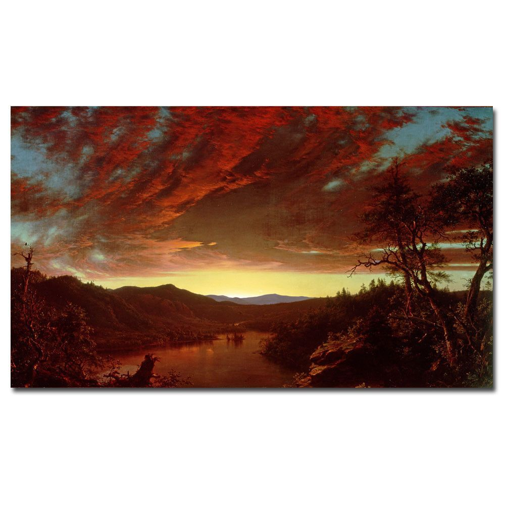 Twilight in the Wilderness by Frederic Church Painting Print on Wrapped Canvas