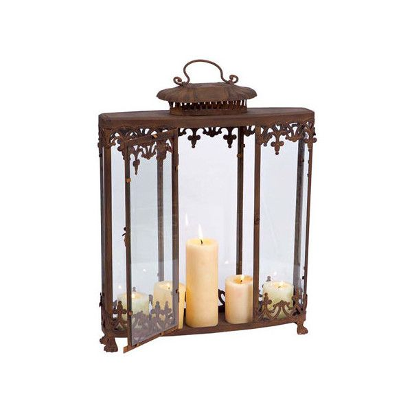 Incroyable Melrose International Rust Lantern ($78) ❤ Liked On Polyvore Featuring Home,  Home Decor