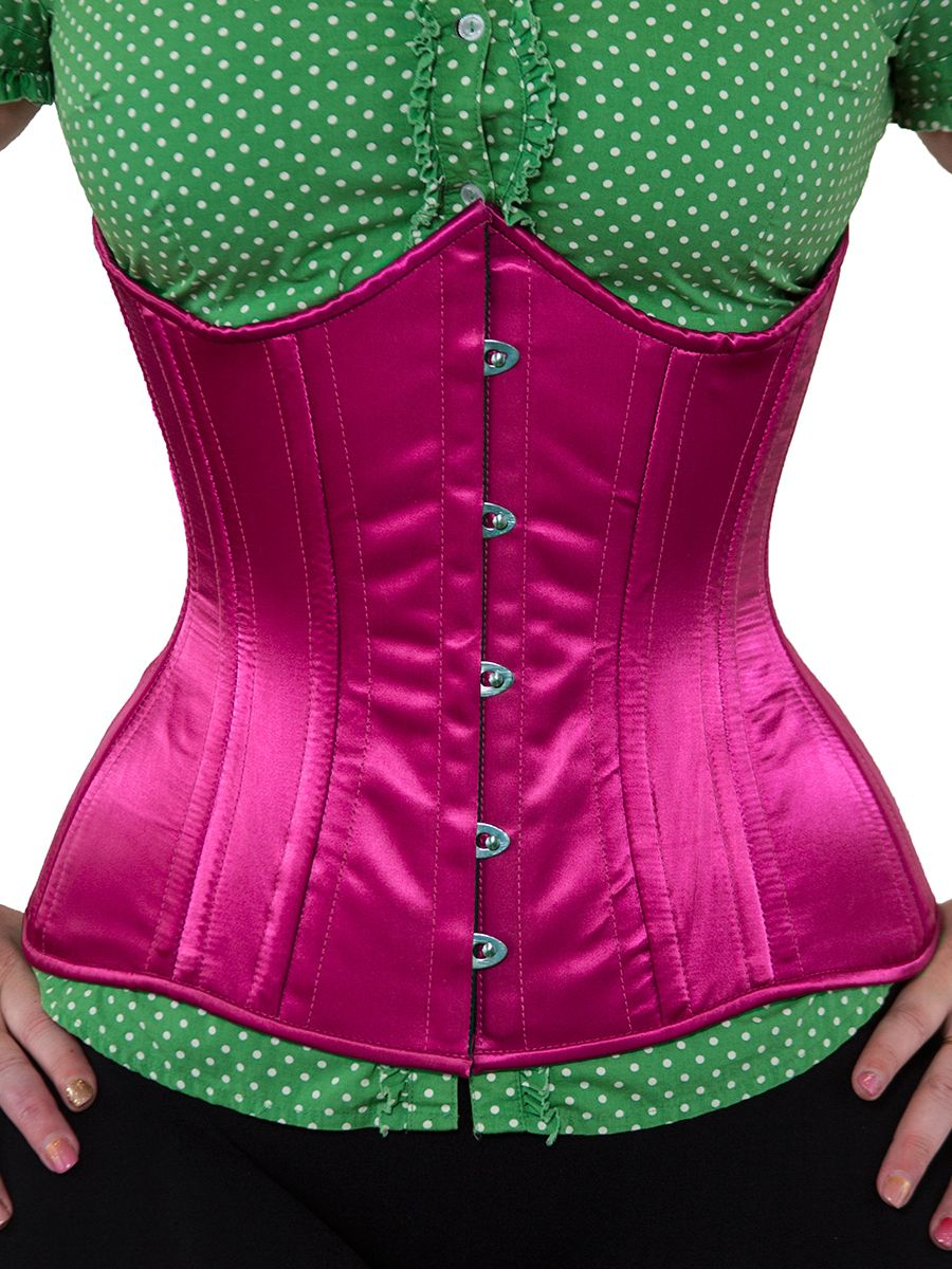 db6b7cc988 Next corset costuming project. Limited Edition Steel-Boned Longline  Underbust Corset in Deep Rose Satin. Find this Pin and more on Orchard ...