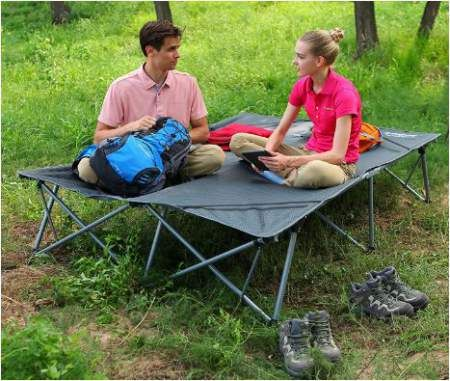 Kingcamp Double Camping Cot  Person Oversized Bed The Kingcamp Double Camping Cot Is An Oversized Tool With A Lot Of Space For Two Adults