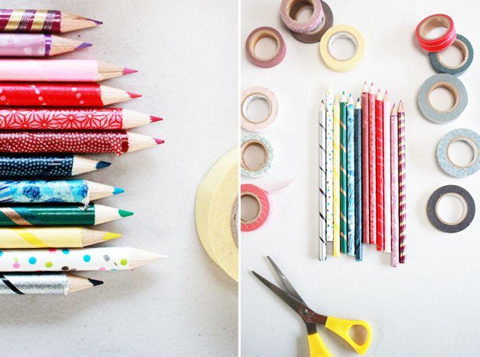 Резултат с изображение за washi tape pencils