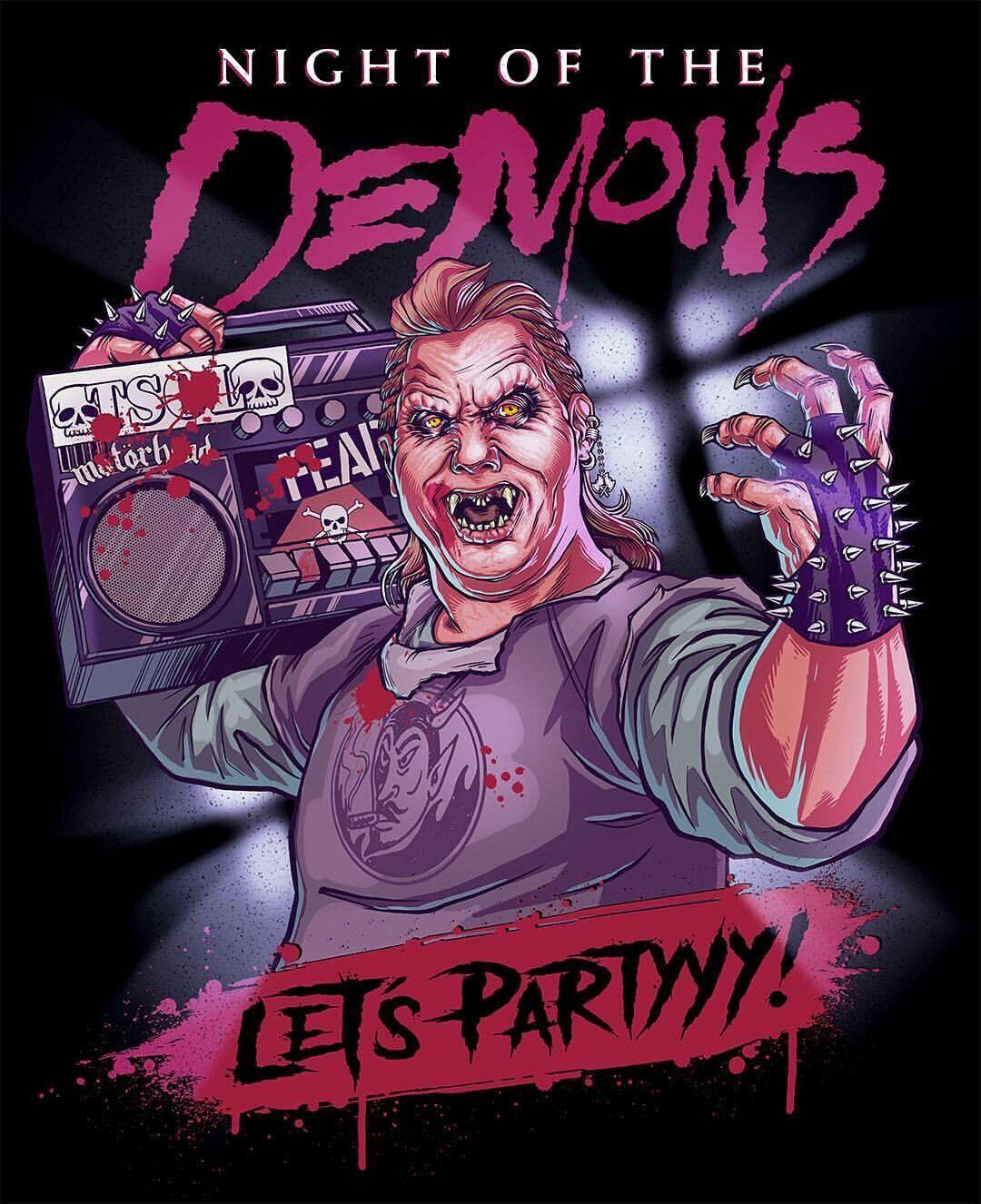 Night of the Demons (1988) | Night of the demons, Horror movie art, Horror  fans